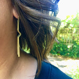 Vibe brass earrings