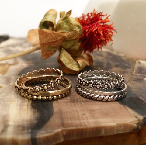The Trio stack rings