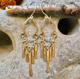 Bianca brass earrings