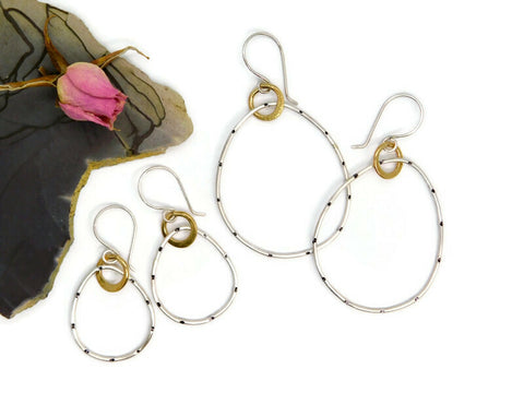 Rings of Fire Hoop Earrings