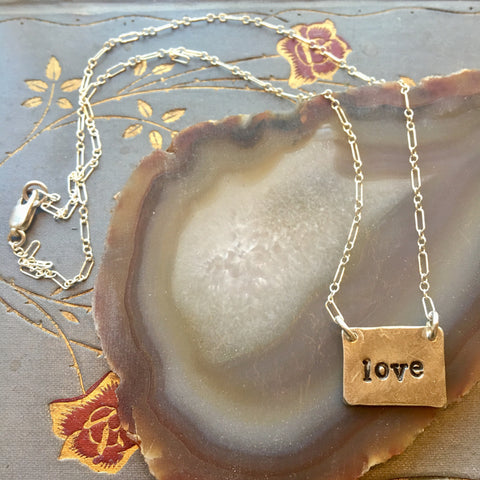 Love sterling necklace