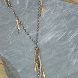Sterling silver and brass Olivine necklace by Julie Cooper