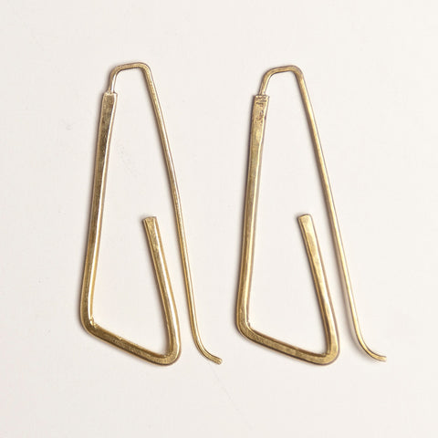 Roya brass earrings