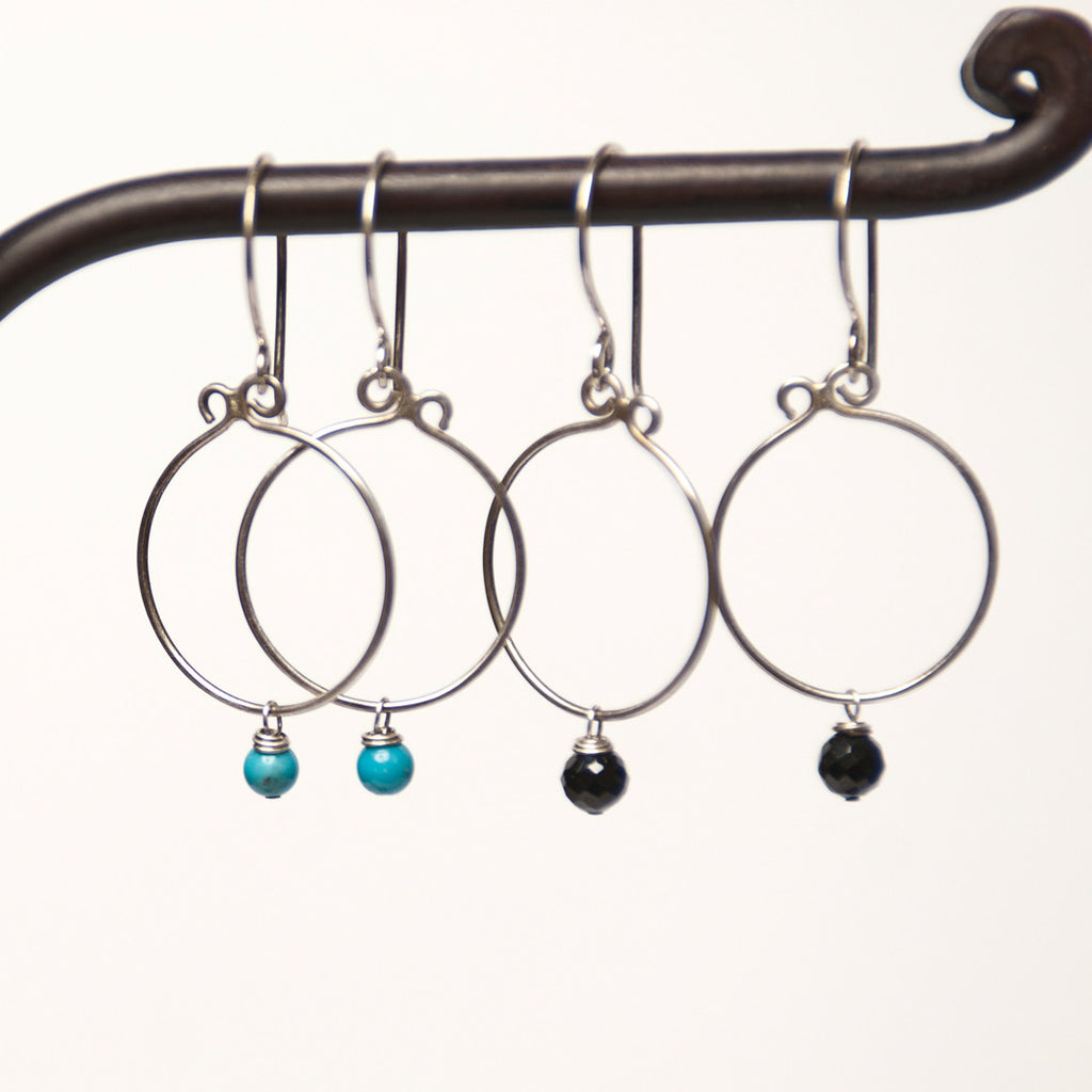 """Simplicity Mini"" Sterling Silver Loop Earrings"