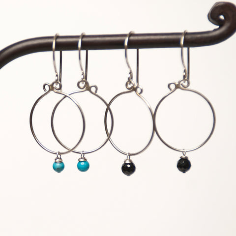 Simplicity mini sterling earrings