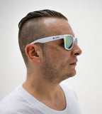 LBW White Sunglasses with Green Tint
