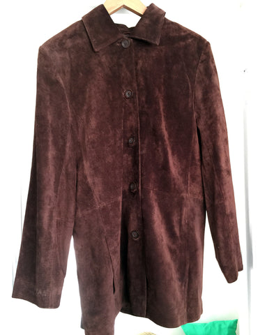 SALE!!!! Classic brown suede coat in excellent condition - Stop Making Senz a Maker Studio