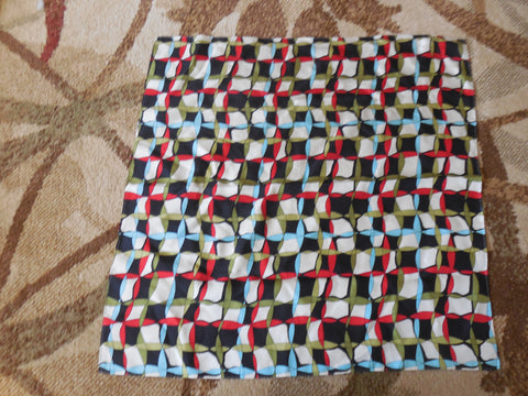 Geometric multicolored scarf on silk - Stop Making Senz a Maker Studio