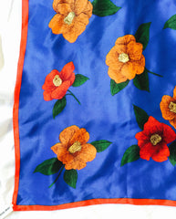 Hanae Mori silk scarf bright and beautiful colors
