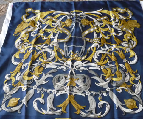 Hermes Mors de la Conetable blue and gold tones - Stop Making Senz a Maker Studio