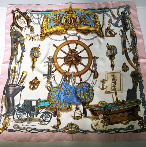 Authentic Hermes scarf Musee by Philippe Ledoux - Stop Making Senz a Maker Studio
