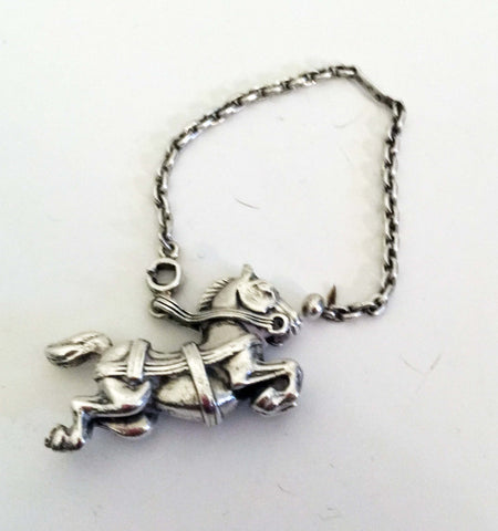 Hermes silver keychain horse galloping - Stop Making Senz a Maker Studio