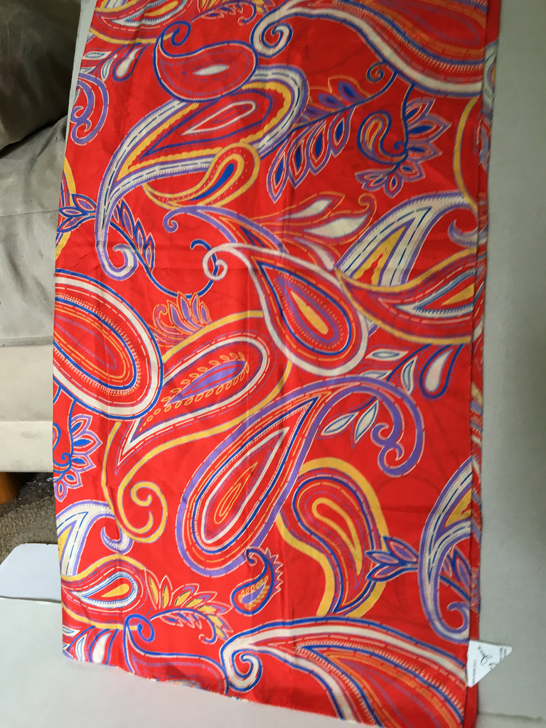 Scarf with paisley yet mod pattern