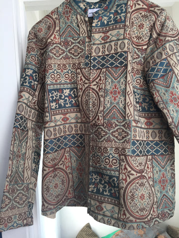 SALE Tapestry inspired jacket in light color - Stop Making Senz a Maker Studio