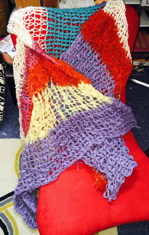 "SALE!!! ""Random"" mix felted and non-felted shawl or scarf"
