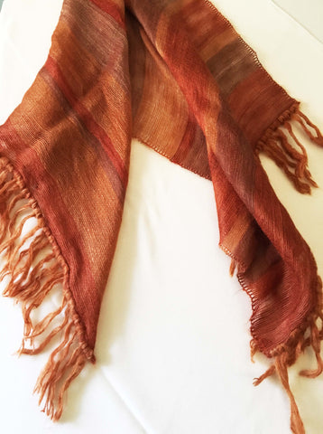 Fall colored mohair scarf for winter weather - Stop Making Senz a Maker Studio