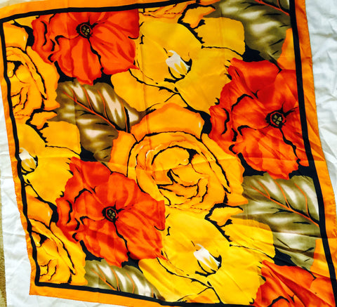 Festive fall colored floral fiesta scarf - Stop Making Senz a Maker Studio