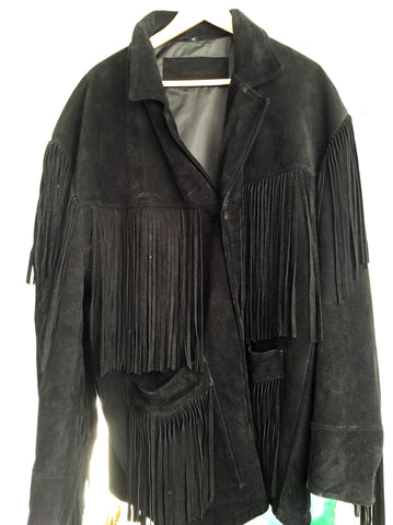 SALE!!! Cool men's fringed suede jacket XL - Stop Making Senz a Maker Studio
