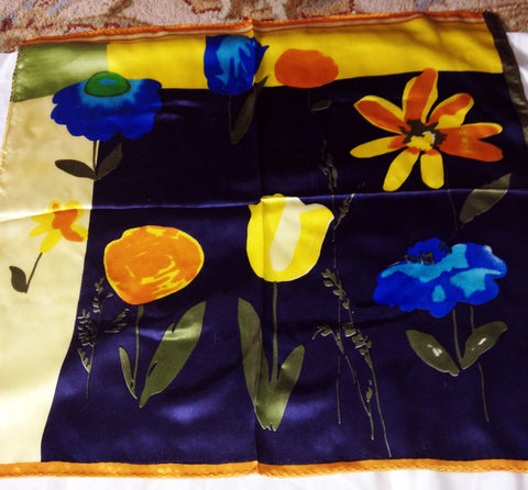 Golden and Blue Spring Celebration Scarf - Stop Making Senz a Maker Studio
