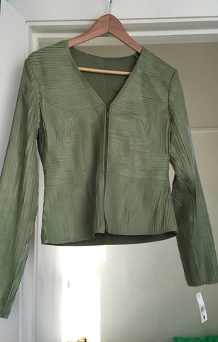 Unusual sea green stretchy leather jacket - Stop Making Senz a Maker Studio