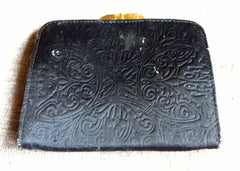 Leather change purse with detailed landscape - Stop Making Senz a Maker Studio