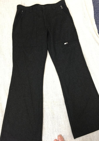 SALE!!! Kenneth Cole grey flannel pants with many zippers 32/30 - Stop Making Senz a Maker Studio