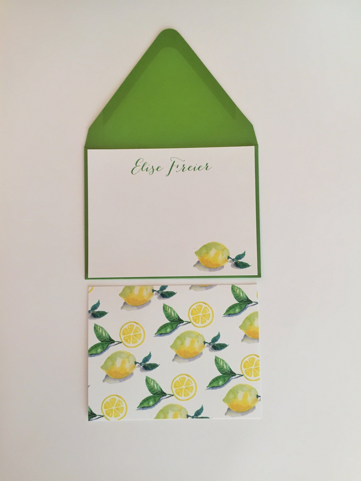 Lemon Notecards