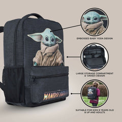 Disney Official Baby Yoda Backpack Mandalorian Grogu The Child