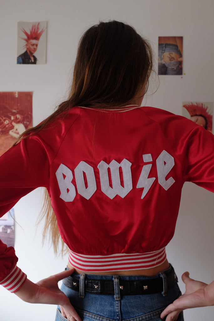 Bowie Red Satin Jacket