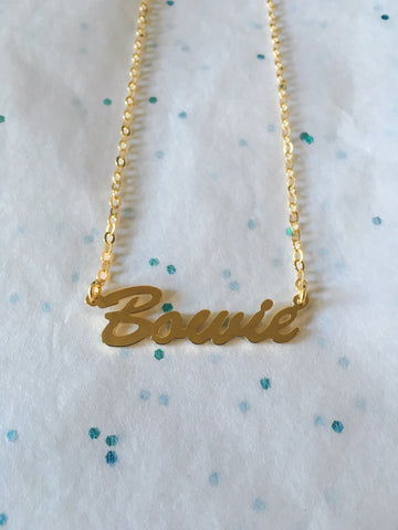 Bowie Necklace Gold