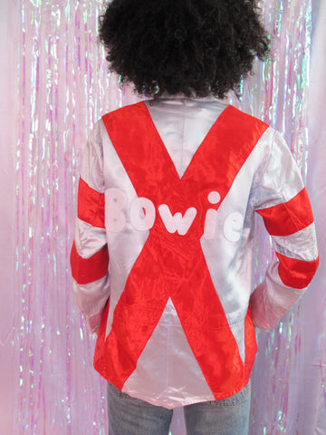 Red & Silver 'X' Bowie Jacket