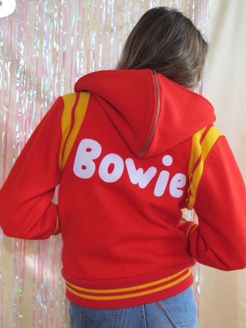 Hooded Red Bowie Jacket