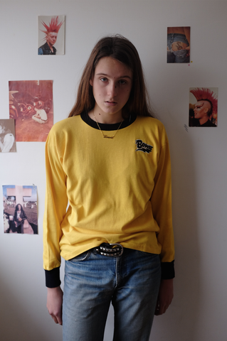 Bowie 1970's Yellow Long Sleeve Shirt