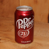 Hand Poured Soy Candle in Handmade Upcycled Dr. Pepper Soda Can