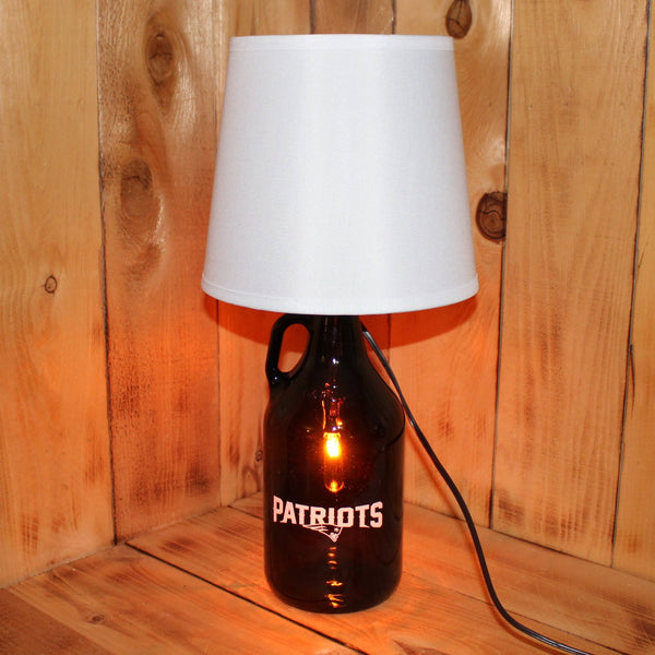 Patriots Football Beer Growler Lamp with Night Light with shade