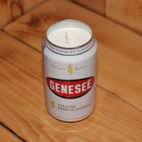 Hand Poured Soy Candle in Handmade Upcycled Genesee Lager Beer Can