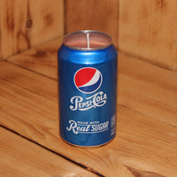 Hand Poured Soy Candle in Handmade Upcycled Pepsi Cola Real Sugar Soda Can