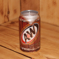 Hand Poured Soy Candle in Handmade Upcycled A&W Root Beer Soda Can