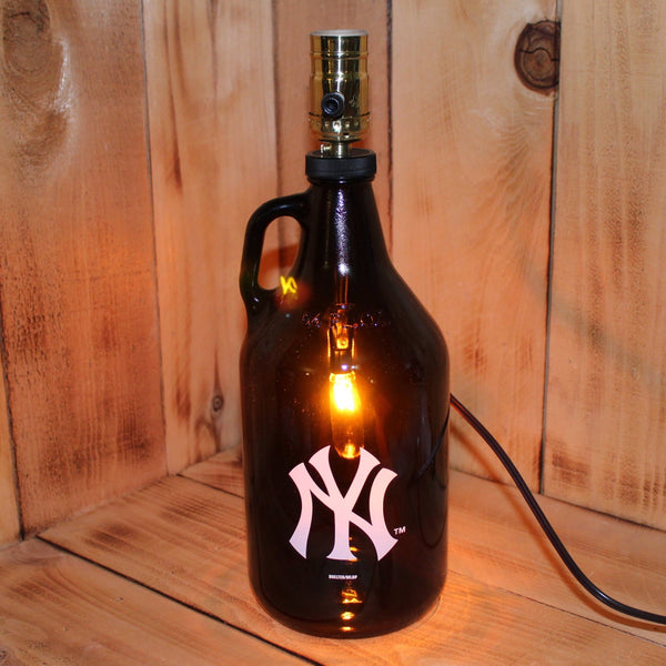 NY Yankees Baseball Beer Growler Lamp with Night Light