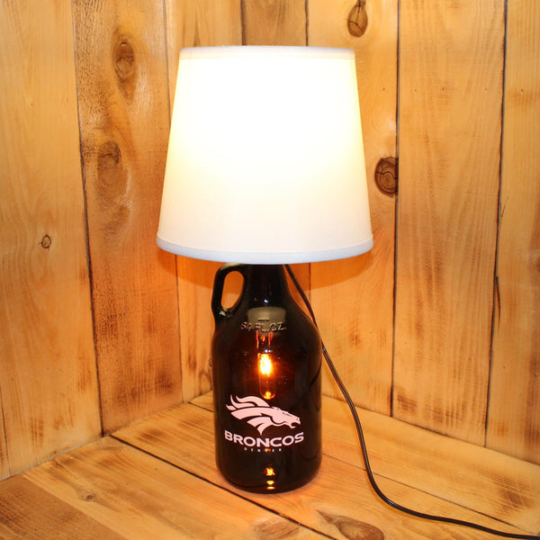 Denver Broncos Football Beer Growler Lamp with Night Light with shade