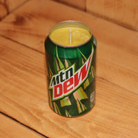 Hand Poured Soy Candle in Handmade Upcycled Mountain Dew Soda Can