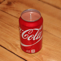 Hand Poured Soy Candle in Handmade Upcycled Coca Cola Soda Can