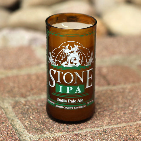Recycled Stone IPA  India Pale Ale Bottle Candle