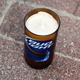 Bud Light Candle made from a Bud Light Beer Bottle