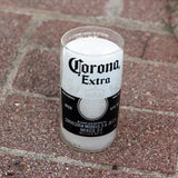 Man Cave Scented Soy Candle made from a repurposed upcycled Corona Beer Bottle