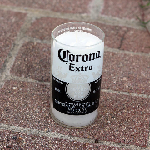 Corona Candle Made from a repurposed Corona Beer Bottle