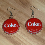 Coca Cola Upcycled Bottle Cap Earrings