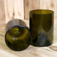Upcycled Pair of Tumblers made from Chardonnay Wine Bottles