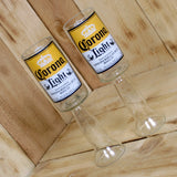 Upcycled Corona Light Beer Redneck Wine Glass Chalice