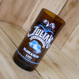 Julian Hard Cider Black & Blue pint glass made from a repurposed bottle